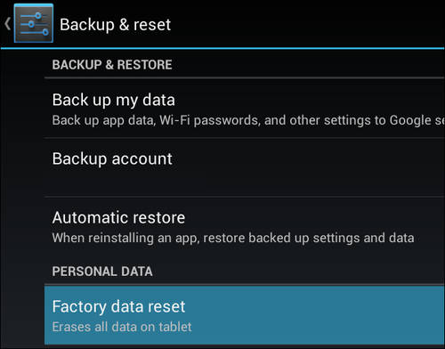 Archos 50c Oxygen how to Hard reset